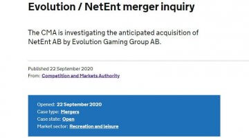 Britain investigating merger of Evolution Gaming and NetEnt