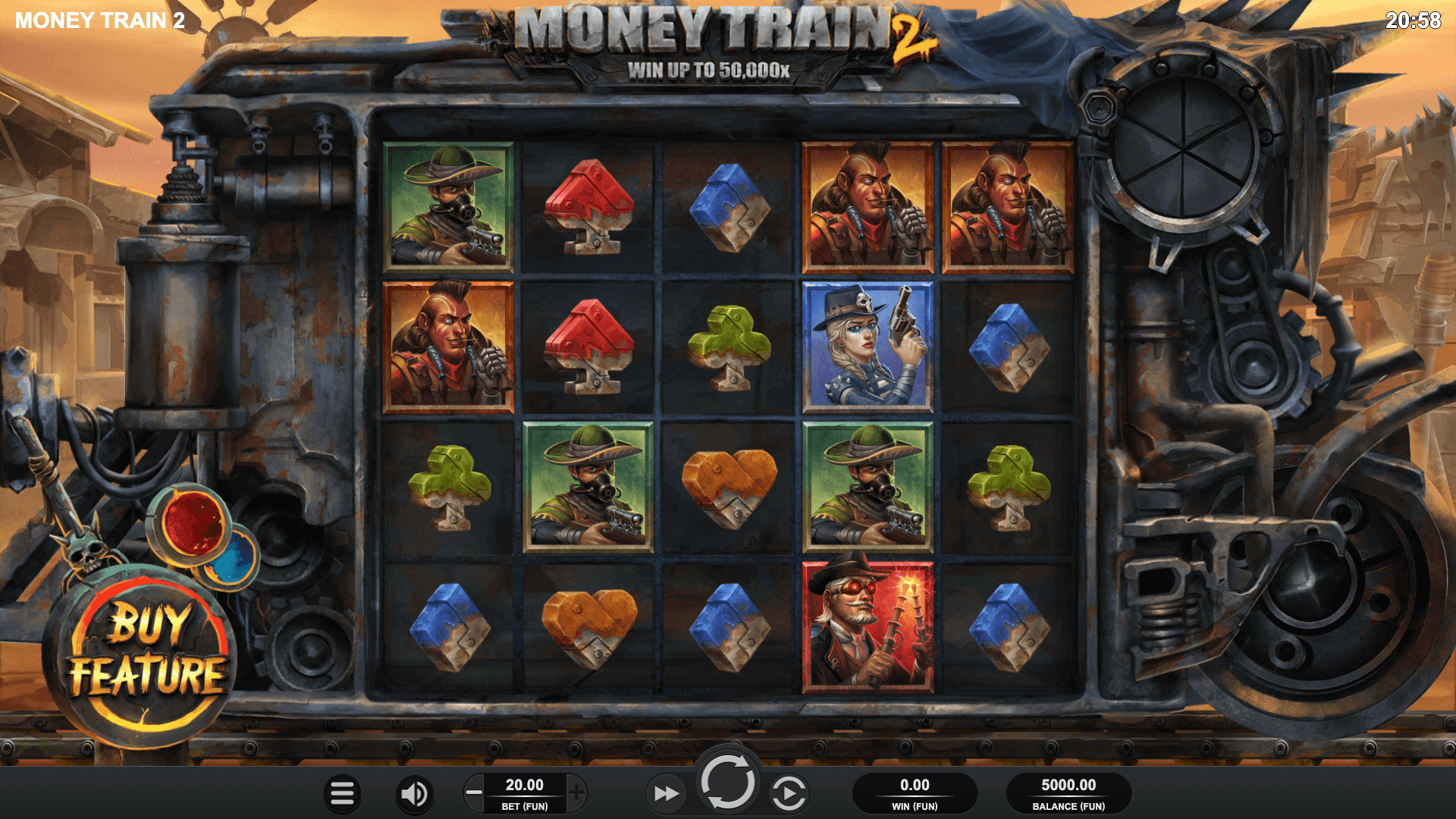 Slot machine Money Train 2 by Relax Gaming Screenshot